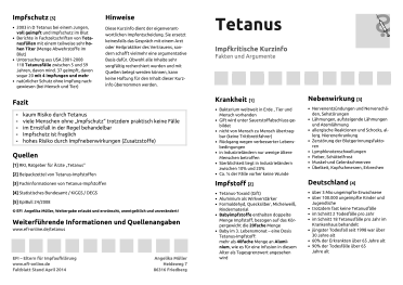 Faltblatt Tetanus